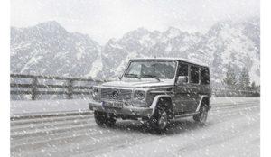 Car in Snow Retouching