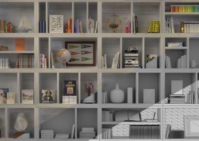 3D CGI Bookcase